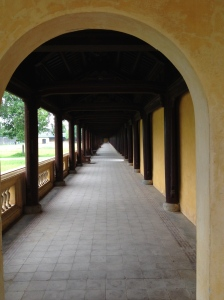 One of the long corridors.